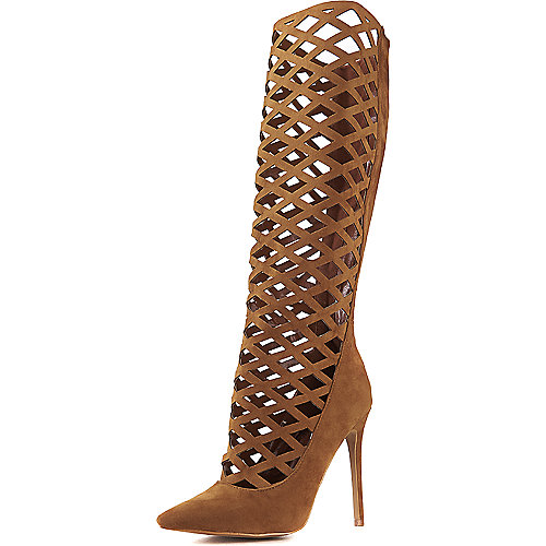 Shoe Republic LA Hailey Gladiator Heel Tan Exotic Shoes