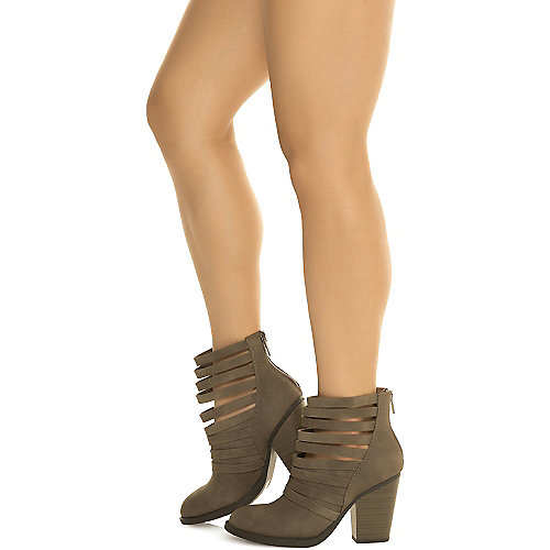 Shiekh Women's Kelly-S Low Heel Ankle Boot Grey Ankle Boots