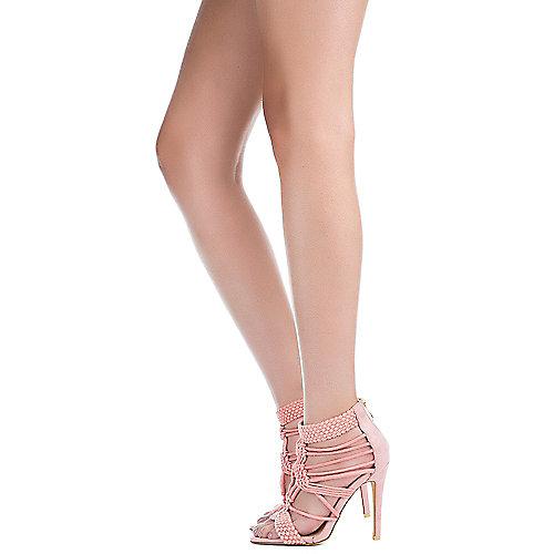 Cape Robbin Unane-2 Strappy High Heel Pink
