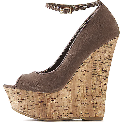 Dollhouse Launch Wedge Shoe Taupe Wedge Sandals