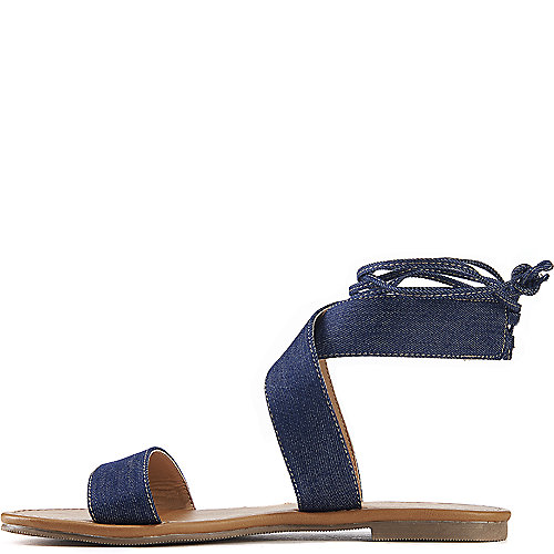 City Classified Zinty Lace-Up Sandals Blue
