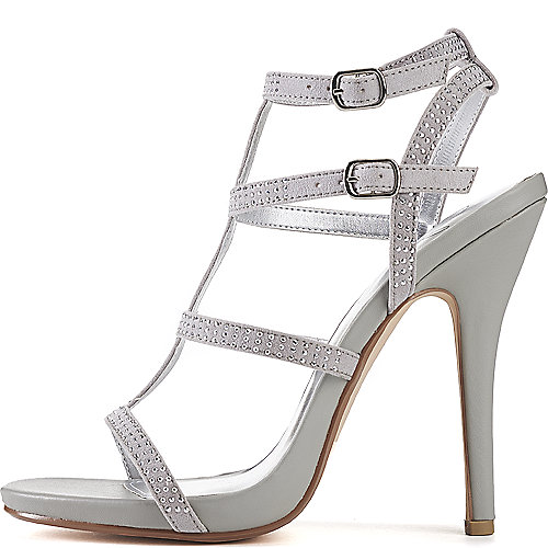 Jenni Rivera Bridget-74A Slingback Dress Shoe Grey Slingback Sandals