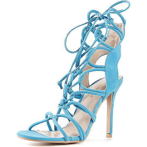 Shoe Republic LA Lace-Up High Heel Keywest Blue