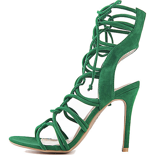 Shoe Republic LA Lace-Up High Heel Keywest Green