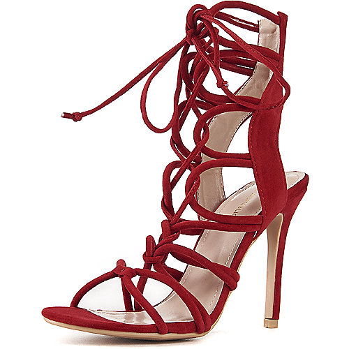 Shoe Republic LA Lace-Up High Heel Keywest Red