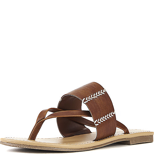 City Classified Rattan-S Thong Sandals Tan