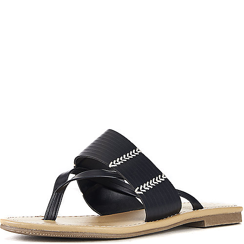 City Classified Rattan-S Thong Sandals Black