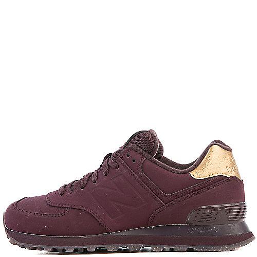New Balance Athletic Walking Shoe 574 Burgundy