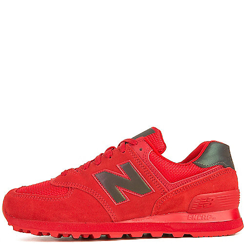 New Balance Athletic Walking Shoe 574 Red Walking Shoes