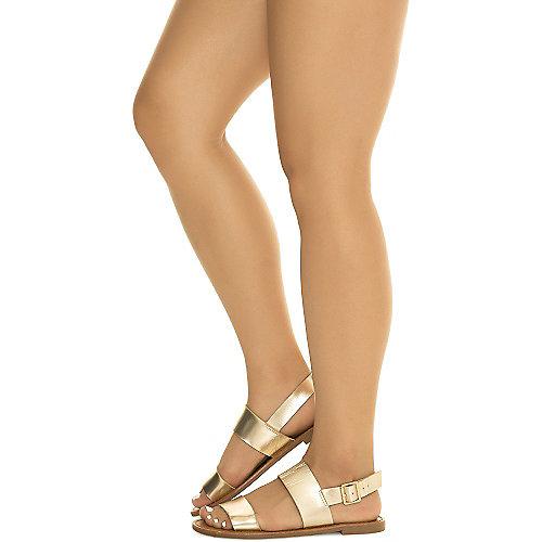 Breckelle's Kylee-02 Slingback Sandals Tan Flat Sandals