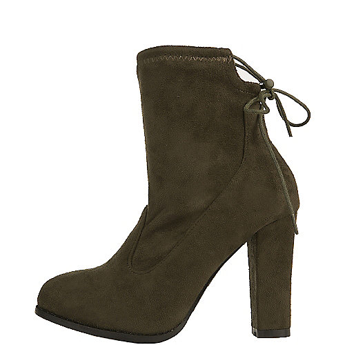 Shiekh Women's Solvang-A1 High Heel Ankle Boot Green Ankle Boots