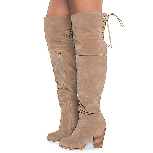Shiekh Max-2 Knee High Boots  Natural