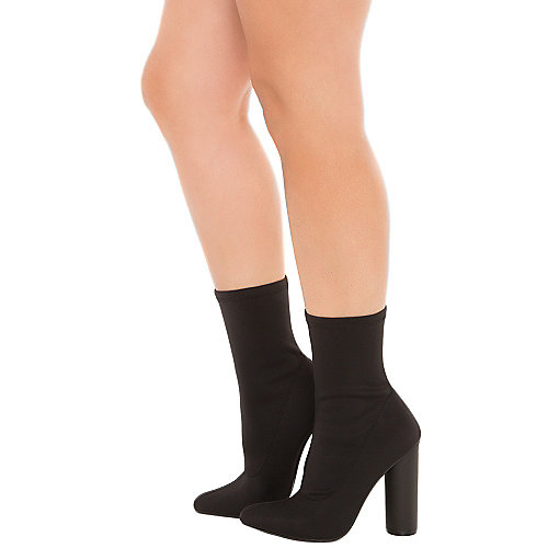Cape Robbin Women's Paw-1 High Heel Ankle Boot Black Ankle Boots