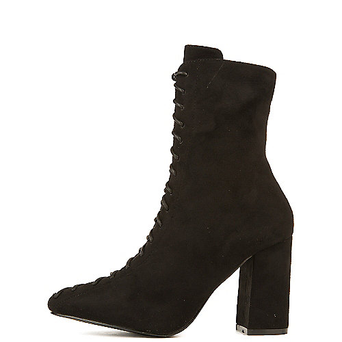 Cape Robbin Betisa-6 High Heel Ankle Boots Black