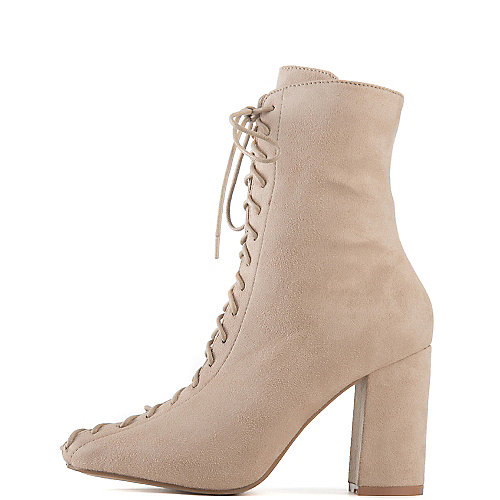 Cape Robbin Women's Betisa-6 High Heel Ankle Boot Natural High Heel Boots