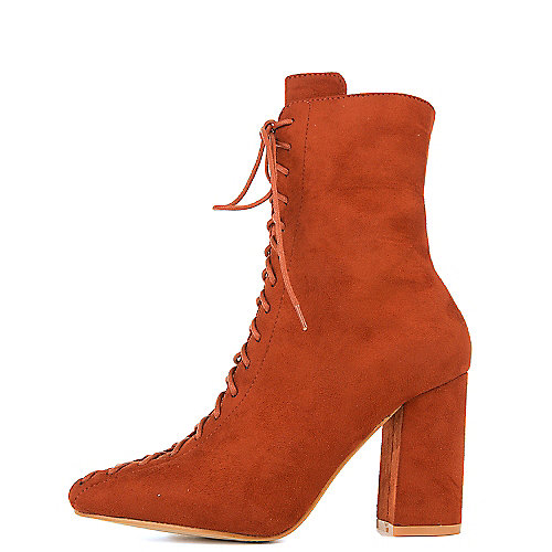 Cape Robbin Betisa-6 High Heel Ankle Boots Burgundy
