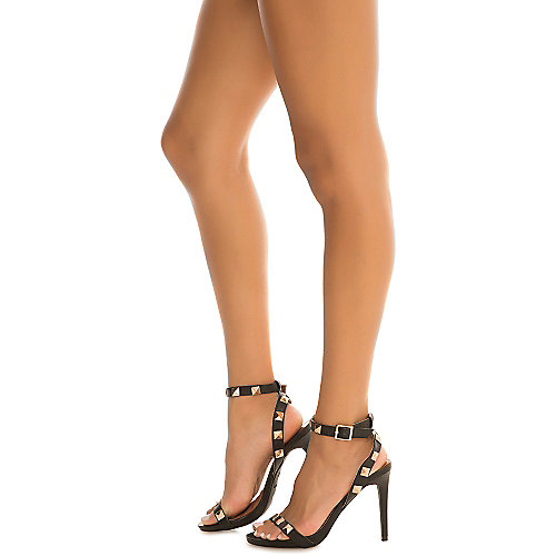 Dollhouse Curse High Heel Sandals Black Slingback Sandals