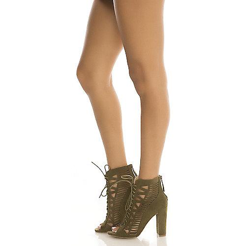 Wild Diva Morris-33 High Heel Dress Shoe Green