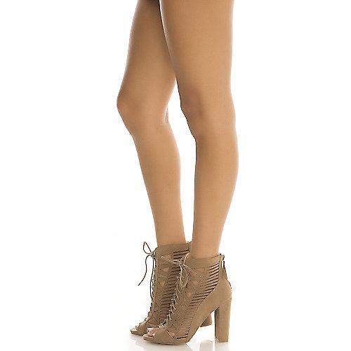 Wild Diva Morris-33 High Heel Dress Shoe Taupe
