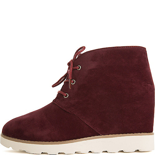 Dollhouse Crusade Casual Wedge Sneakers Burgundy