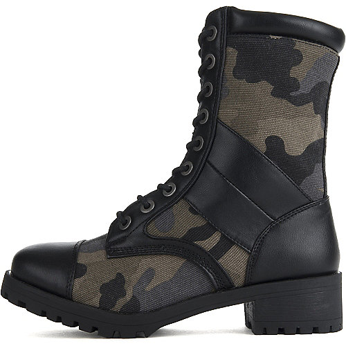 Dollhouse Women's Guard Combat Boot Black Combat Boots