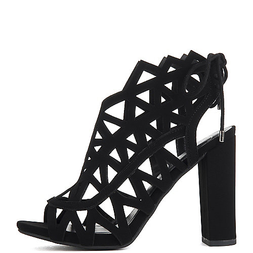Delicious Shawna Lace-up Sandals Black Slingback Sandals