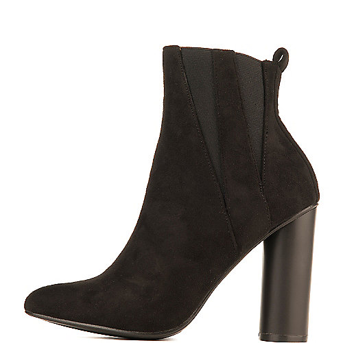 Cape Robbin Paw-10 High Heel Ankle Boots Black