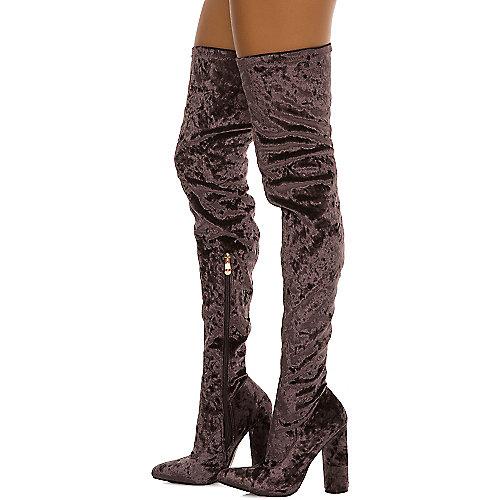 Cape Robbin Women's Paw-27 Thigh-High Boot Purple Thigh-High Boots