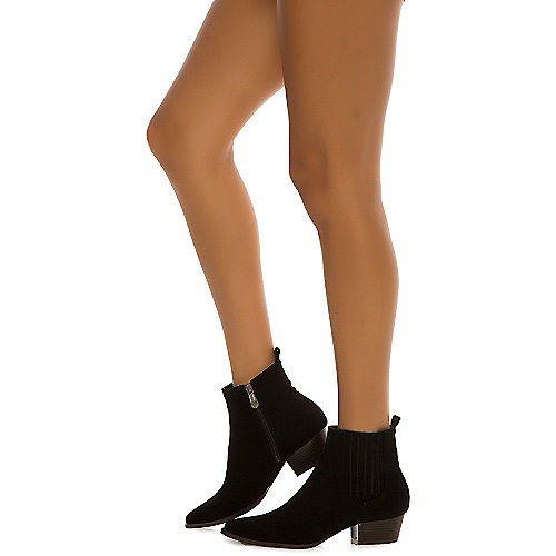 Cape Robbin Women's Aria-8 Ankle Bootie Black Ankle Boots