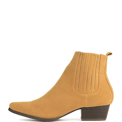 Cape Robbin Aria-8 Ankle Booties Yellow