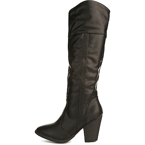 Dollhouse Attention Low-Heel Boots Black