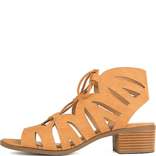 City Classified Dalles-S Lace-Up Sandals Tan