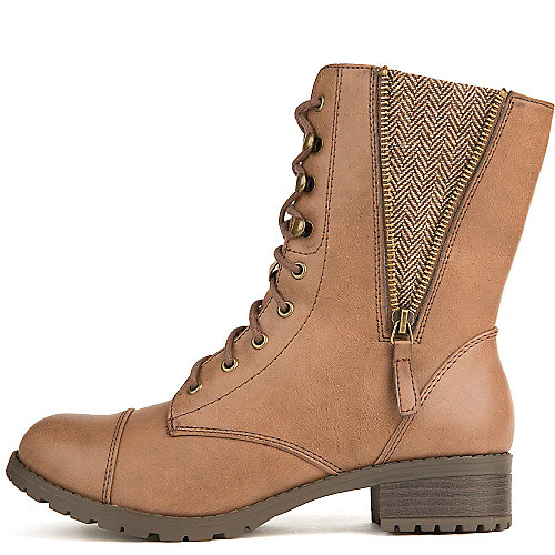 Soda Footer-S Lace-Up Combat Boots Brown