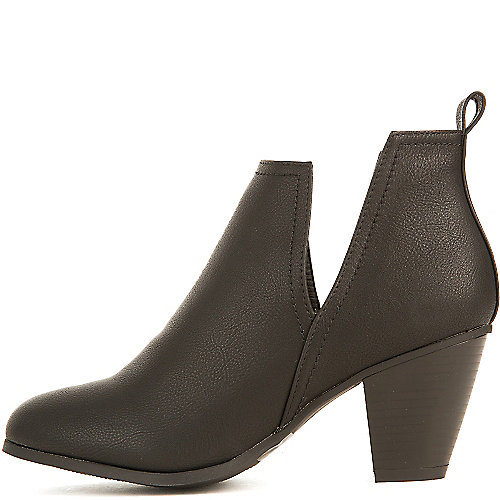Nature Breeze Saddle-03 Low Heel Ankle Booties Black