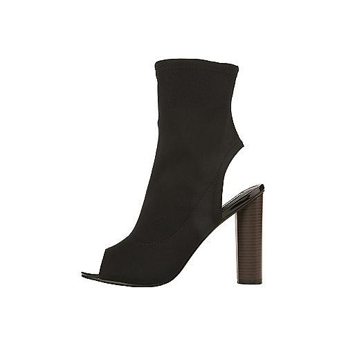 Cape Robbin Women's Connie-3-S Mid-Calf Bootie Black High Heel Boots