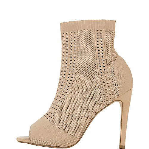 Cape Robbin Elnora-26 High Heel Dress Shoe Natural