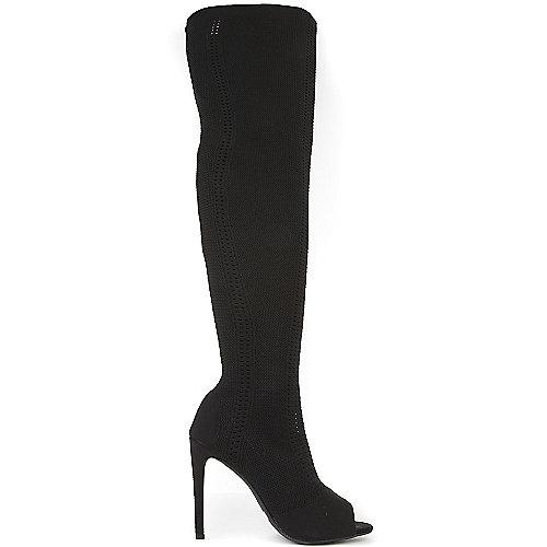 Cape Robbin Women's Elnora-27 Thigh-High Boot Black Thigh-High Boots