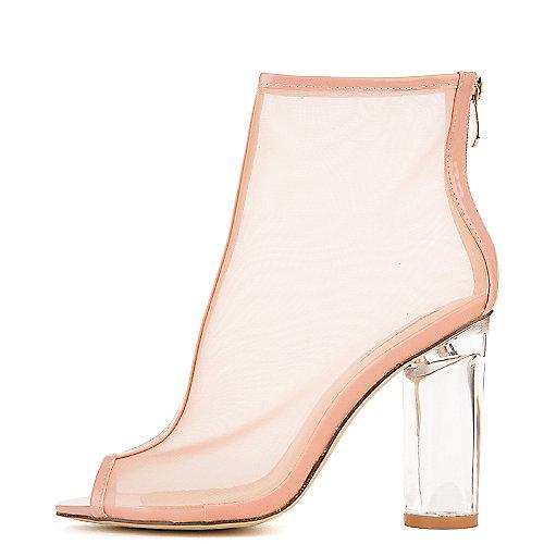 Cape Robbin Benny-2 Mid-Calf High Heel Boots Pink