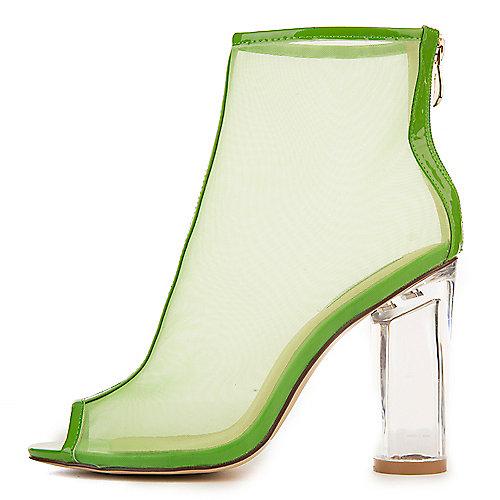 Cape Robbin Benny-2 Mid-Calf High Heel Boots Green