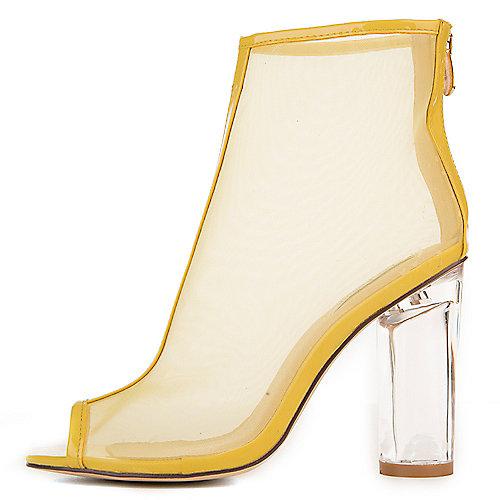 Cape Robbin Benny-2 Mid-Calf High Heel Boots Yellow