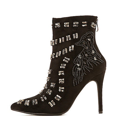 Cape Robbin Beronica-12 High Heel Ankle Boots Black