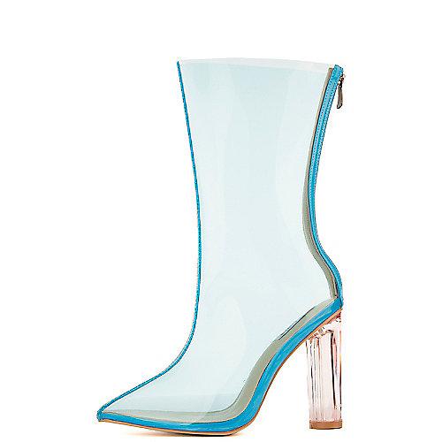 Cape Robbin Ella-1 Mid-Calf High Heel Boots Blue Mid-Calf Boots