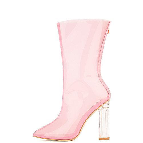 Cape Robbin Ella-1 Mid-Calf High Heel Boots Pink Mid-Calf Boots