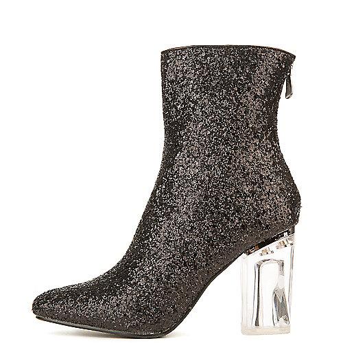 Cape Robbin Nina-6 Mid-Calf High Heel Boots Black