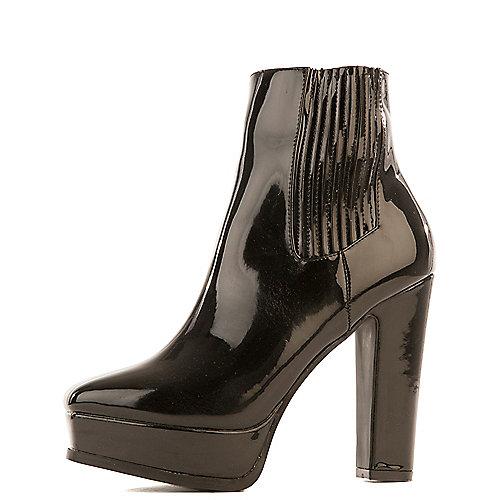 Cape Robbin Josie-8 High Heel Platform Boots Black