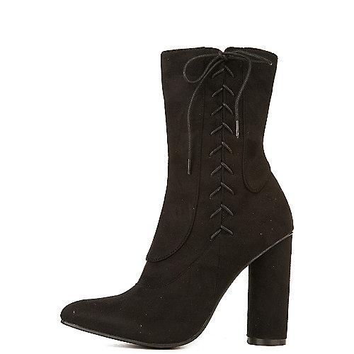 Cape Robbin Paw-30 High Heel Mid-Calf Boots Black
