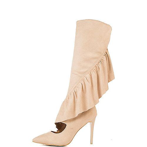 Cape Robbin Mimi-1 High Heel Boots Natural