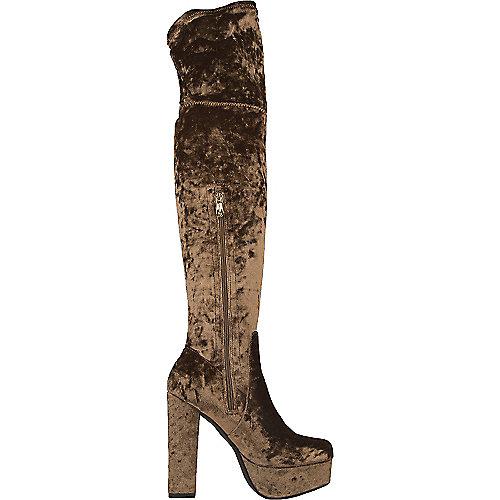 Cape Robbin Vivi-1 Knee-High Boots  Brown