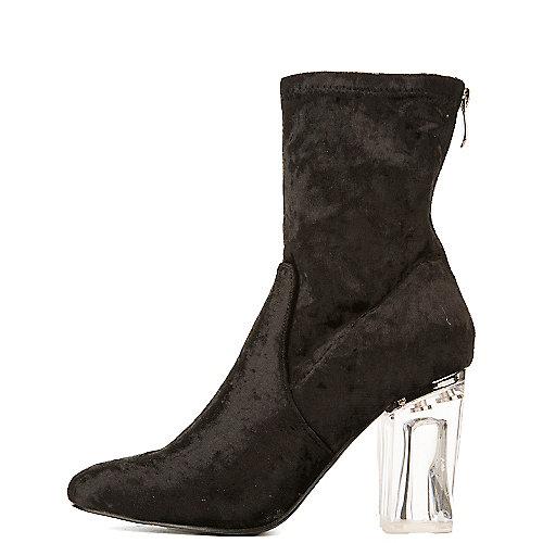 Cape Robbin Fay-11 Mid-Calf High Heel Boots Black