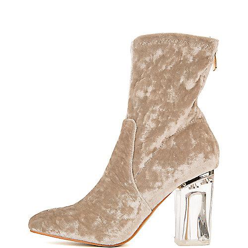 Cape Robbin Fay-11 Mid-Calf High Heel Boots Grey